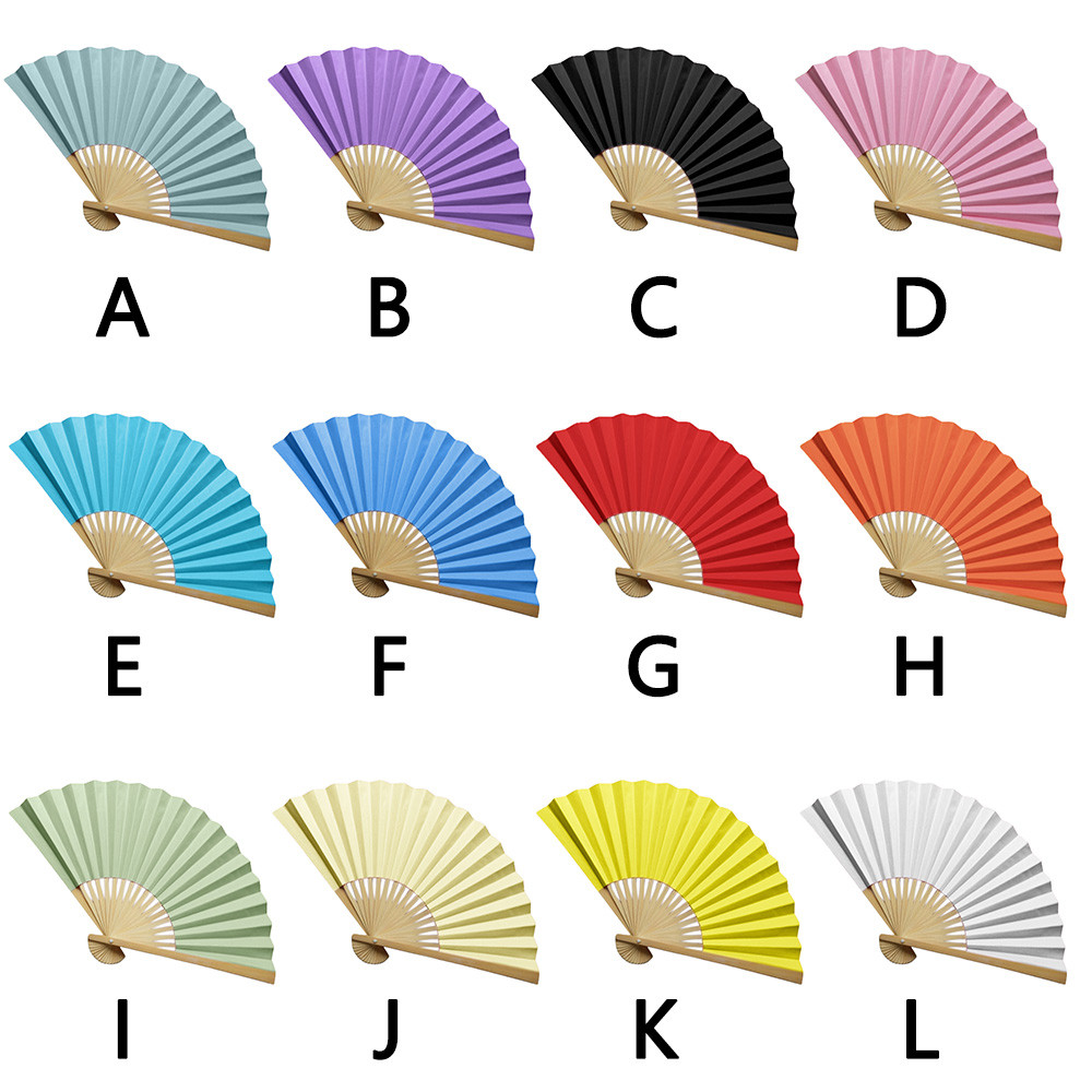 Chinese Style Hand Held Fan Bamboo Paper Folding hand Fan Party Wedding dance Decor ventagli matrimonio drop ship plaid