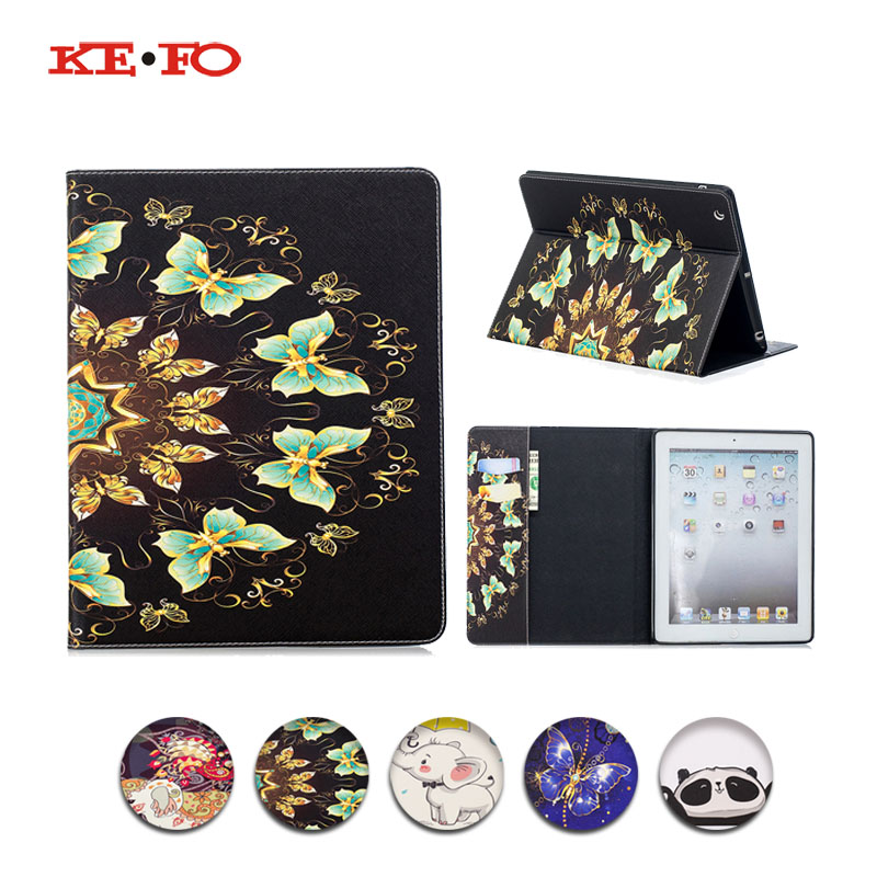 Case For Apple ipad 2 3 4 Smart Case Cover Funda Tablet PU Leather Stand Shell C