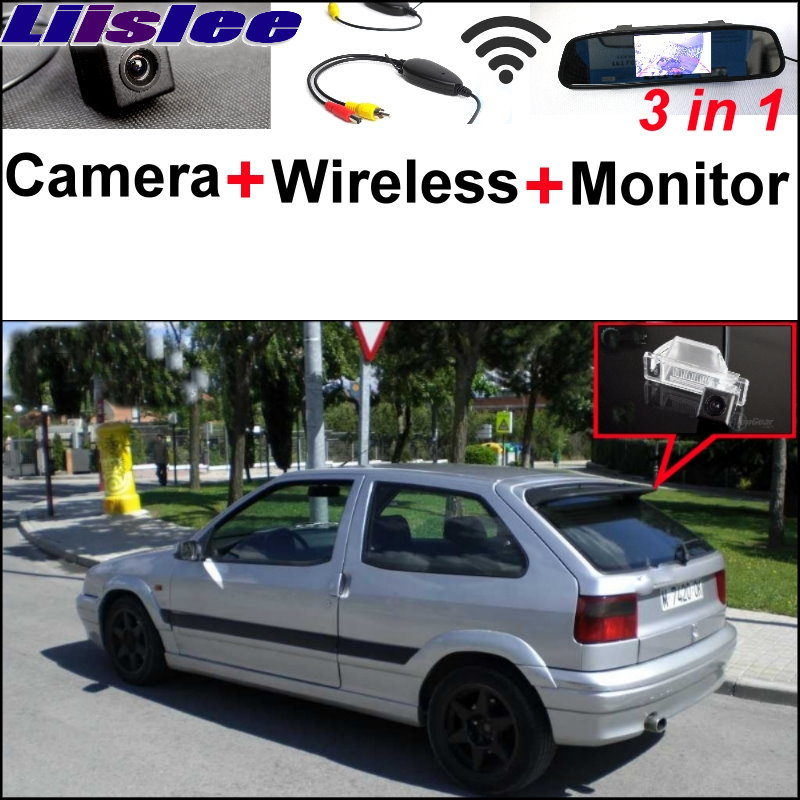 Liislee 3 in1 Special Camera + Wireless Receiver + Mirror Monitor DIY Back Up Parking System For Citroen ZX 1991~1998