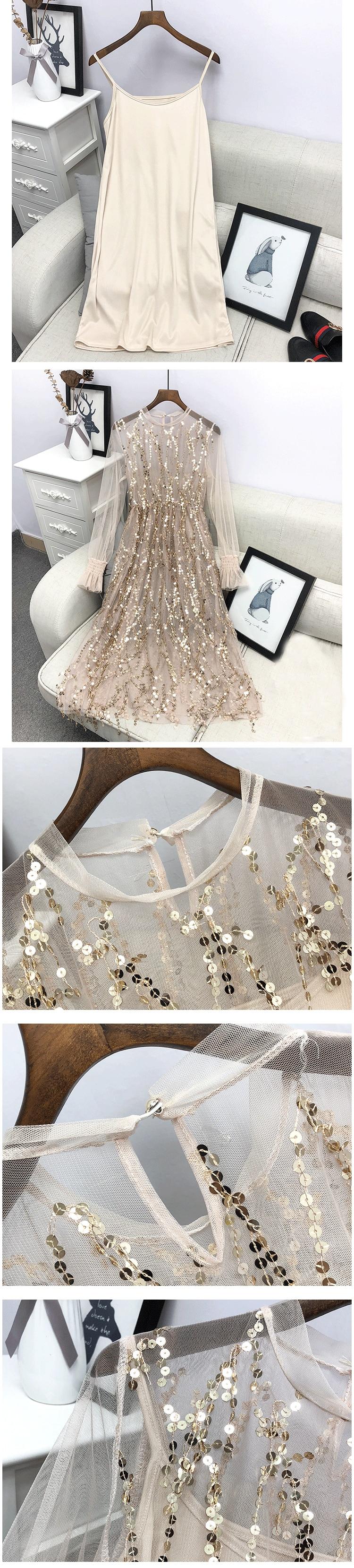 Sequins Elegant Party Dress 4