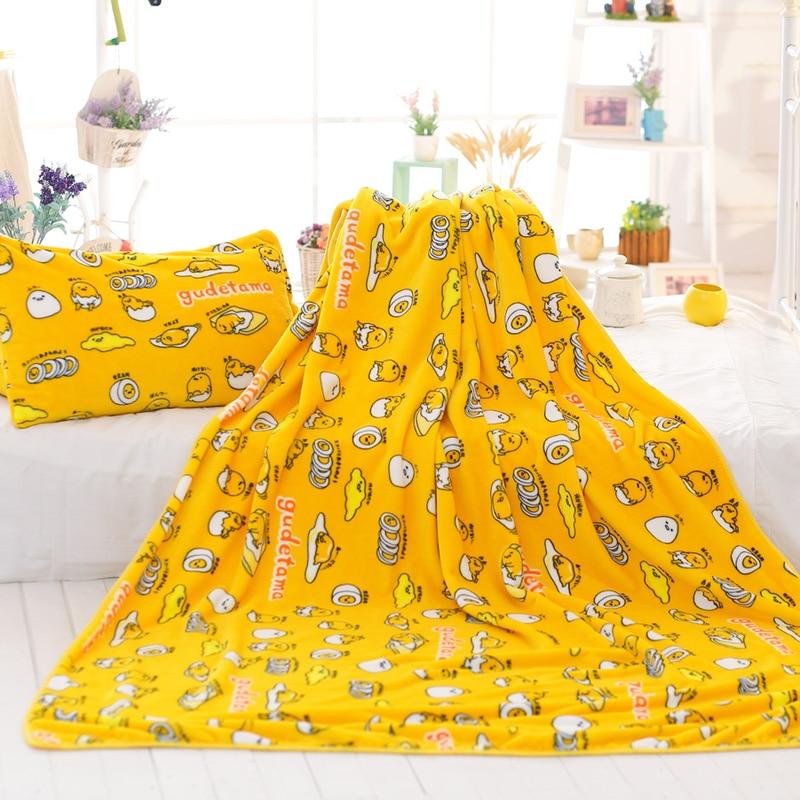 candice guo! super cute plush toy cartoon gudetama lazy Egg yolk air-condition blanket nap blanket creative birthday gift 1pc