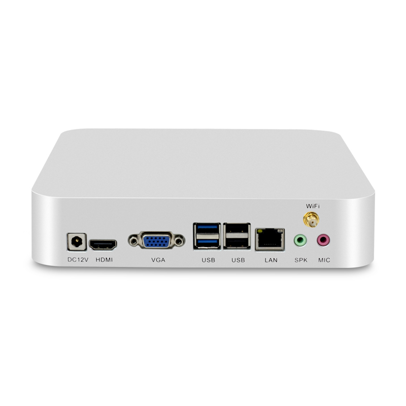 Mini PC Windows 10 Intel Celeron N2810 4GB RAM 120GB SSD Micro Desktop PC HTPC Nettop USB HDMI & VGA Dual Display WiFi TV BOX new x26 mini pc windows 10 8gb ram 320gb ssd with intel celeron 1017u cpu dual cores htpc nettop vga hdmi wifi tv box metal case