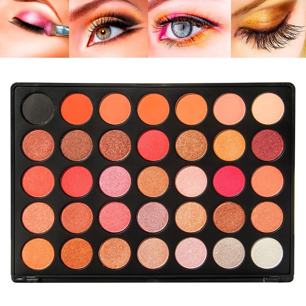 35 Color Eyeshadow Palette Shimmer Matte Makeup Pallete 35A 35B 35C 35D 35E 35F 35K 35N 35P 35T ...