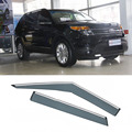 4pcs Blade Side Windows Deflectors Door Sun Visor Shield For Ford Explorer 2011-2013