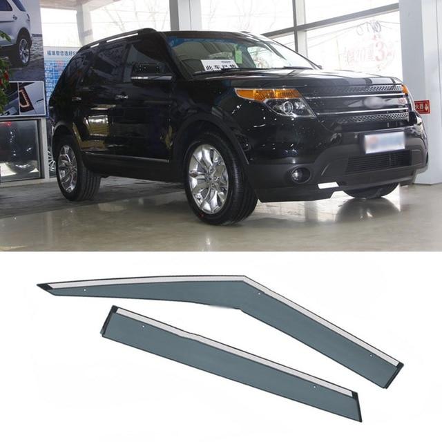 4pcs Blade Side Windows Deflectors Door Sun Visor Shield For Ford Explorer 2011-2013