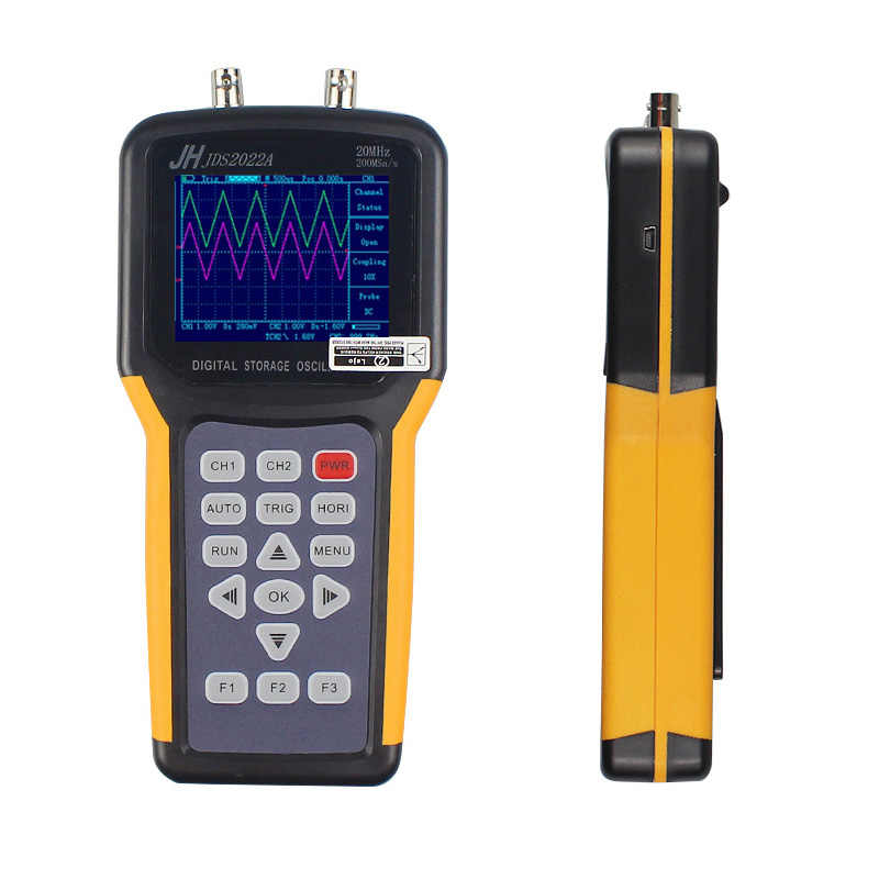 Draagbare Oscilloscoop Jinhan JDS2012A JDS2022A 20 Mhz Bandbreedte 2 Channel Handheld Digitale Oscilloscoop 200MSa/S Sample Rate