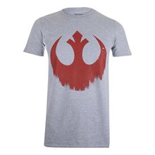 Star Wars - Distressed Rebel Logo Mens T-Shirt Grey Marl S-XXL Free shipping  Harajuku Tops Fashion Classic free