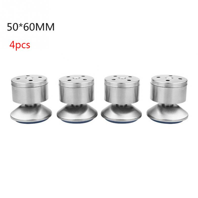 High Quality 4pcs/set Height Adjustable Stainless Steel Table Bed Sofa Level Feet Cabinet Legs Furniture Legs Feet Silver 5cm 6 8 10 12cm height adjustable support furniture legs feet stainless steel table bed sofa level feet kitchen cabinet legs