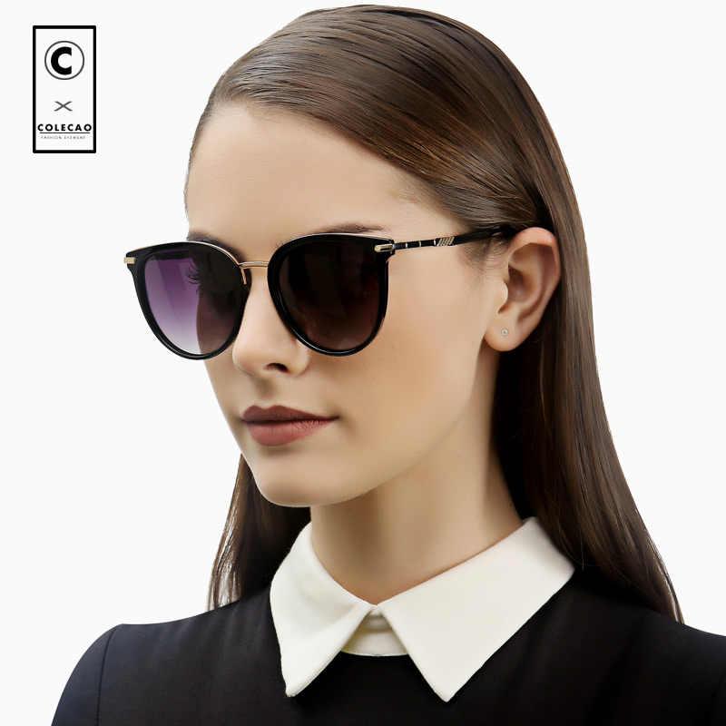 5364987d64 COLECAO Cat Eye Sunglasses Women Vintage Polarized Lenses 2018 Luxury  Brands Design Fashion Outdoor Driving Sun