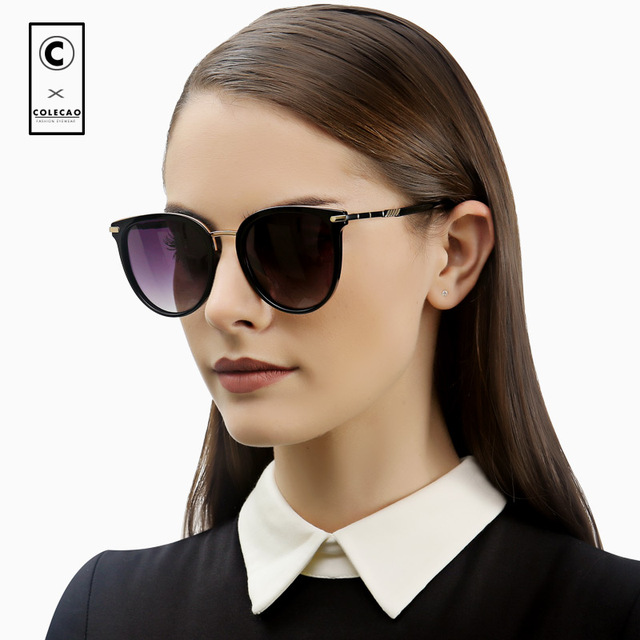 717d431ccd9 COLECAO Cat Eye Sunglasses Women Vintage Polarized Lenses 2018 Luxury  Brands Design Fashion Outdoor Driving Sun Glasses 1214