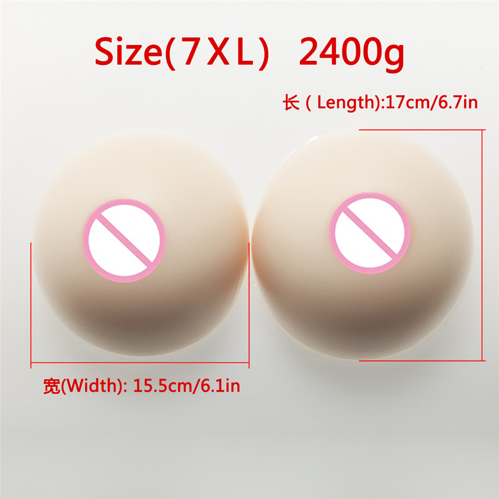 Drag Queen Artificial Breasts Super Cup 2400g White Silicone Breast Artificial fake False Boobs Enhancer CD TD Breast FormDrag Queen Artificial Breasts Super Cup 2400g White Silicone Breast Artificial fake False Boobs Enhancer CD TD Breast Form
