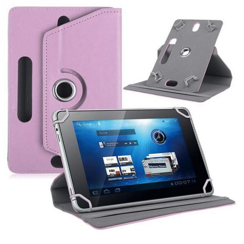 2018 7/8/9/10 inch Universal Rotating Four Hook Leather Crystal Pattern Tablet Protectio ...