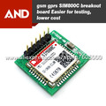 Free shipping Mini Cellular GSM Breakout board,SIM800C 2G GSM and GPRS data breakout, module on board includes antenna