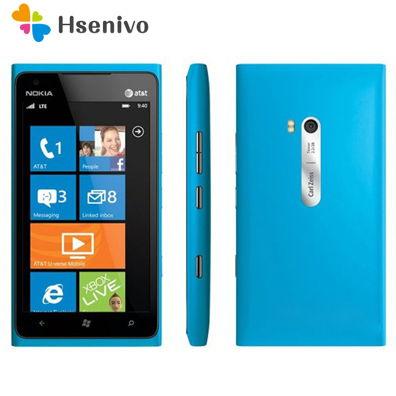 900 Original Unlocked Nokia Lumia 900 Unlocked Original Mobile Phone 3G GSM WIFI GPS 8MP 16GB Memory Windows Os Free Shipping