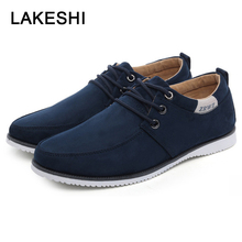 New 2019 Spring Men Shoes Casual Men Loafers Fashion Men's Flats Suede Leather Flat Shoes Men Sneakers Slip-on Shoe Footwear