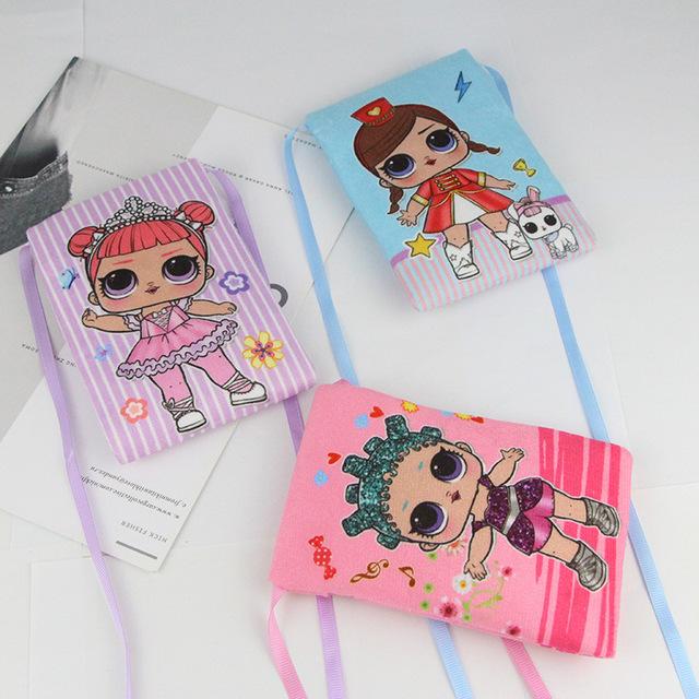 M398 Korean Version Mini Children's Small Bag Cute Doll Cartoon Skew Pocket Wholesale