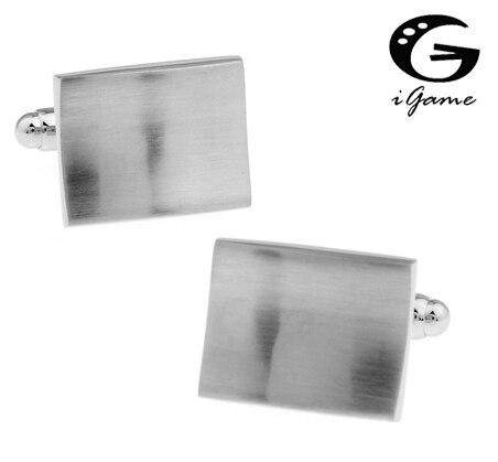 IGame гравировальные запонки прямоугольные металлические проволочные чертежи дизайн
