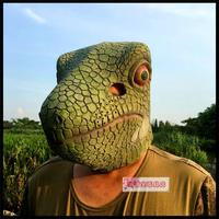 Halloween scary lizard mask men and women party cos12 Zodiac snake dinosaur animal Bar Party props