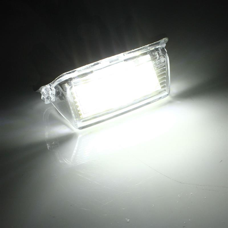 2pcs 3W 6500K Super Bright Low Power Sign Citroen Special LED License Plate Light 3014 18SMD 3528 LED 12V in Signal Lamp from Automobiles Motorcycles