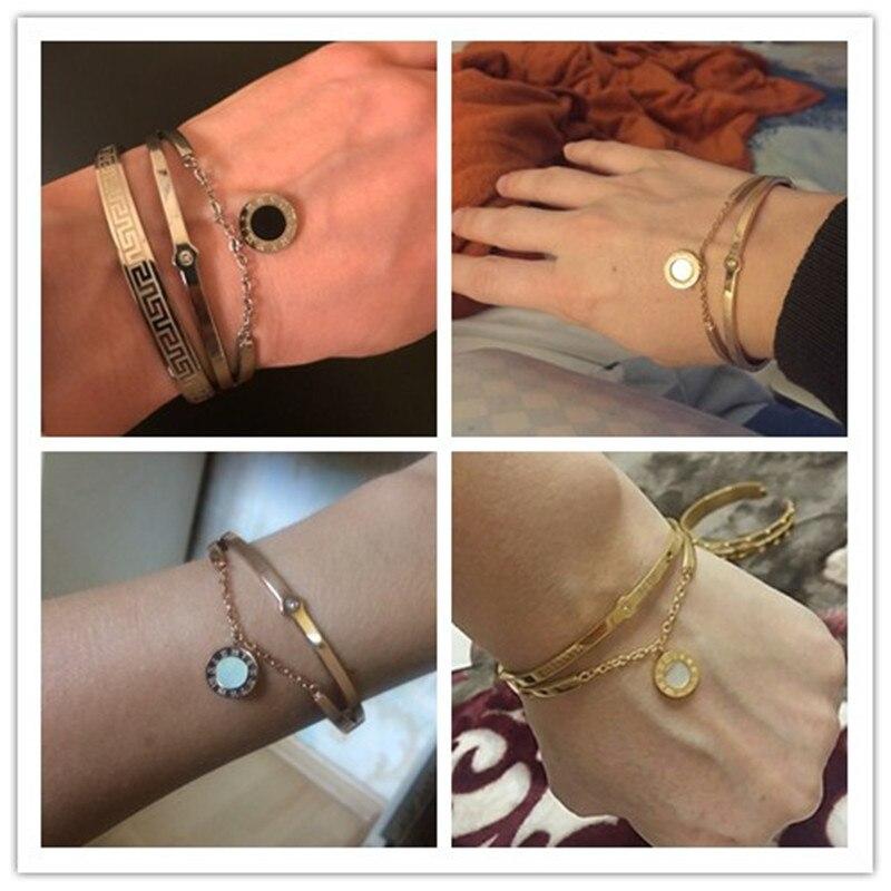 2016 mode smycken nya svarta harts kristaller kvinnor armband charm - Märkessmycken - Foto 6