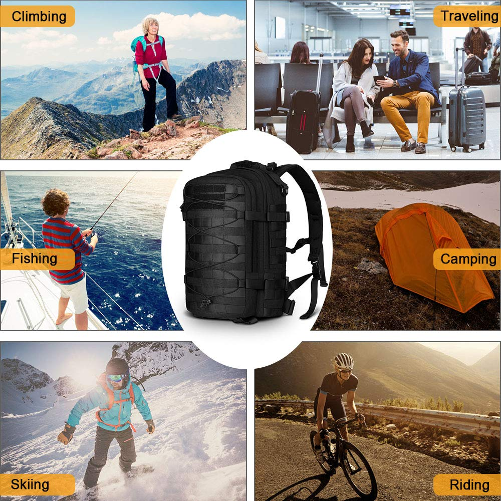 Sac à dos tactique Molle militaire assaut Pack Nylon Trekking sac à dos ordinateur portable sac à bandoulière pour voyager Camping randonnée escalade - 6