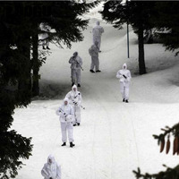 Winter Camouflage Hunting Ghillie Suit Snow White Camo Net Clothes for Outdoor Sports Training Bow Hunting