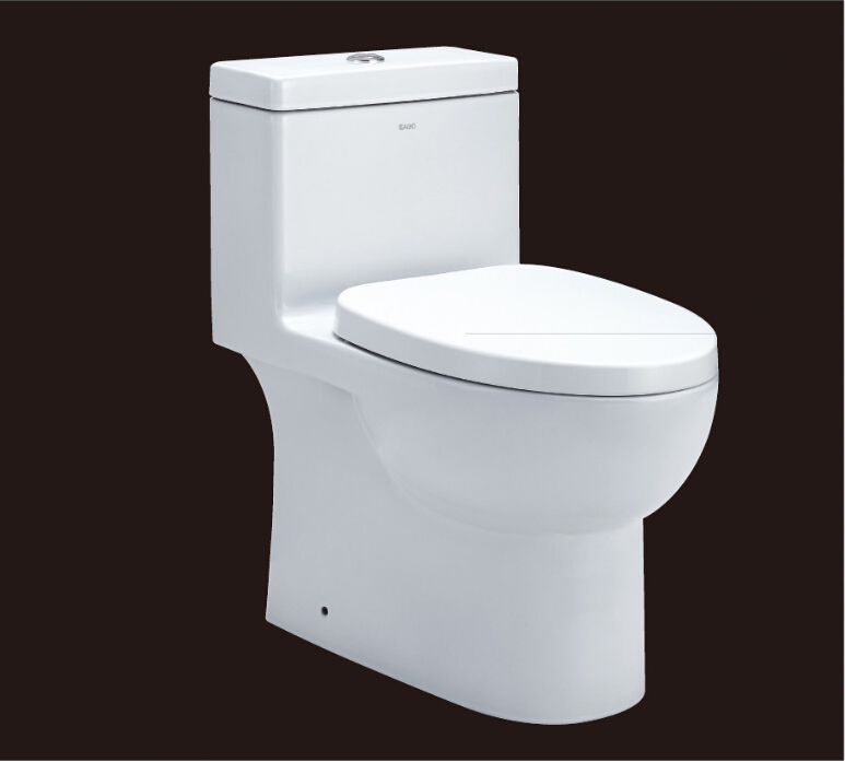2016 hot sales water closet one-piece toilet S-trap toilets with PVC adaptor PP soft close seat AST359 UPC certificate