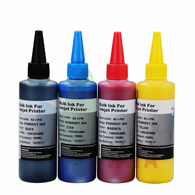 US $26 0 |400ml CISS refill kit CMYK Waterproof PIGMENT Ink For Epson,for  Epson Plgment Ink General for Epson inkjet printers-in Ink Refill Kits from