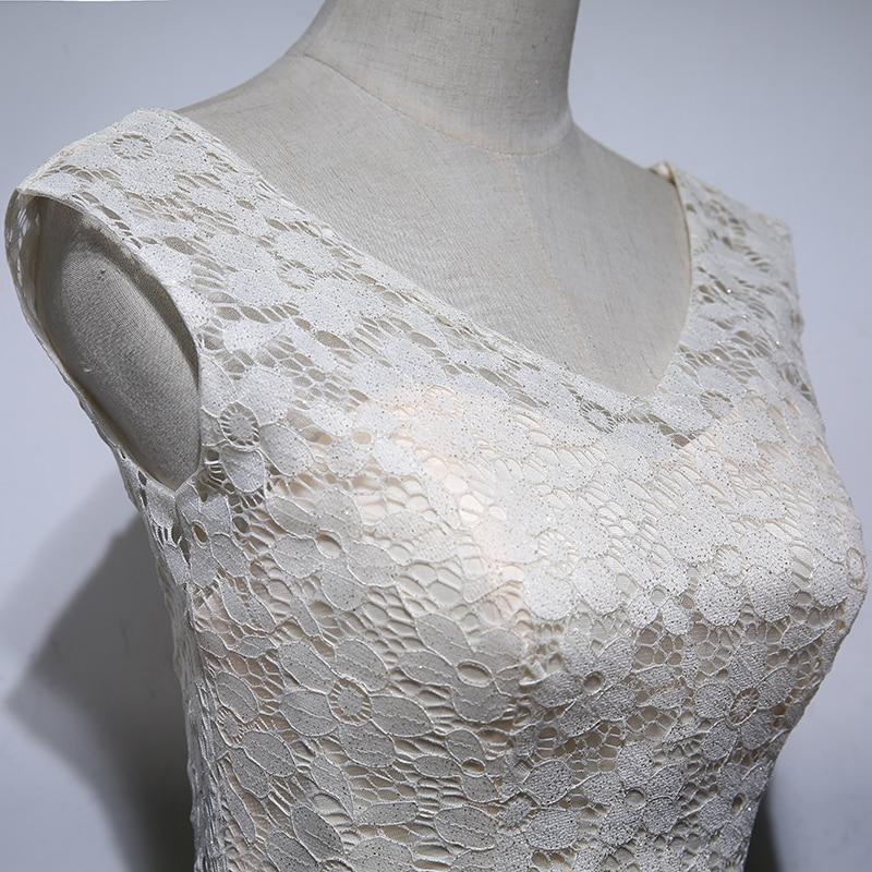 Levné šaty Matky Nevěsty Dlouhé 2017 A Line V Neck Lace Pouta - Šaty pro svatební hostiny - Fotografie 6