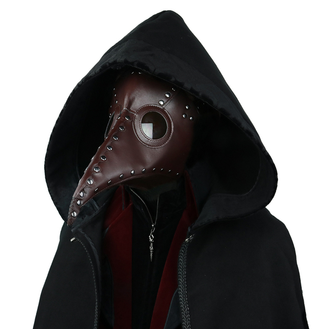 Steampunk Plague Doctor Mask Long Nose Bird Mask Cosplay Fancy Mask Exclusive Gothic Retro Rock Leather Halloween Mask