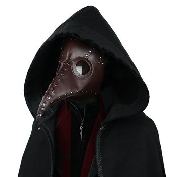 Steampunk maska lekarza dżumy długi nosek ptak maska Cosplay Fancy maska mogę zaoferować ekskluzywne Gothic Retro Rock skórzany maska Halloween tanie i dobre opinie Maski Unisex Dla dorosłych Kostiumy Animal Themed Costumes Skóra syntetyczna pu leather
