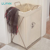 Canvas Storage Buckets Dirty Clothes Basket Folding Box Bucket Size Waterproof Laundry basket Multi Function Toys Organizer