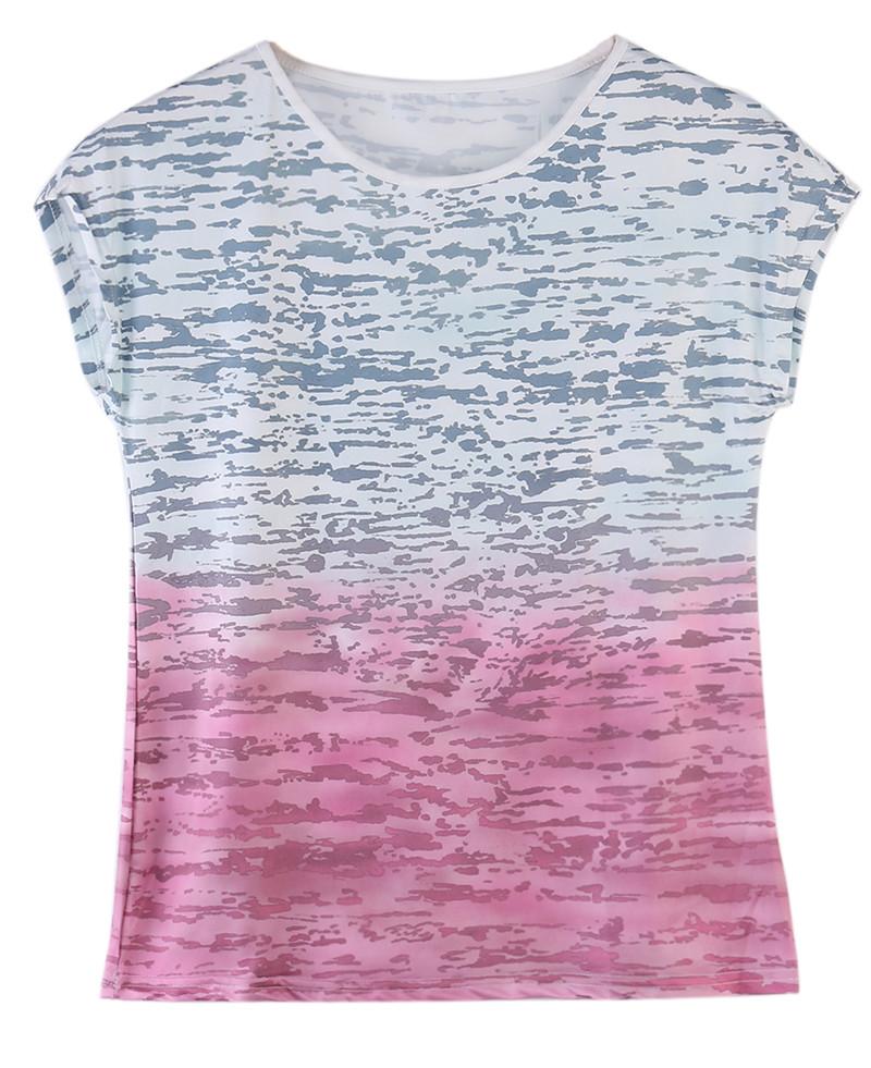 HTB1TCfSKFXXXXbSXVXXq6xXFXXXC - New gradient Simple T Shirt Women's Tees Plain Cotton