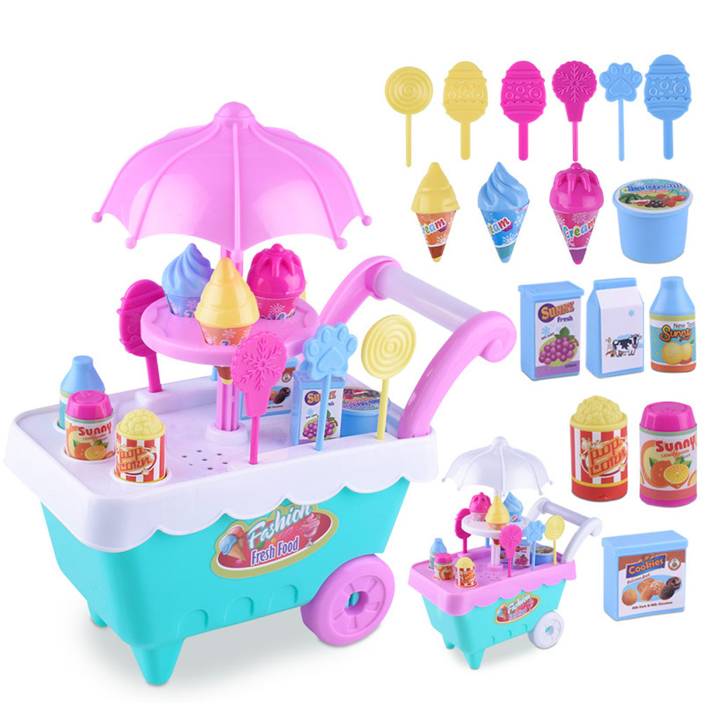 Children Role Play Toys Mini Candy Cart Detachable Ice Cream Shop Cart Toy YH-17