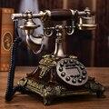 Moda teléfono antiguo de calidad de la vendimia hogar teléfono equipado american Manos Libres/de Pantalla Azul de IDENTIFICACIÓN de Llamadas