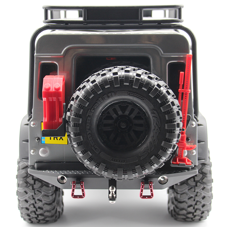 HR 1/10 TRAXXAS Trx-4 Trx4 Alloy Rear Bumper Beam Includes Anti-slip Sheet RC Crawler CAR free shipping traxxas trx x maxx xmaxx rc crawler car raise head tires rear stand up wheels anti roll over tyres spare parts