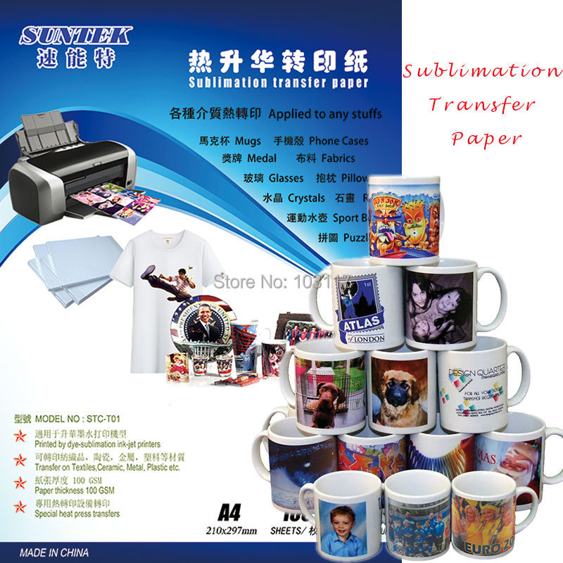 US $49 99 |Heat Transfer Sublimation Paper with Waterproof Sticky Back For  Sublimation Mugs-in Painting Paper from Office & School Supplies on