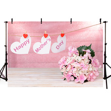 Photography Backdrops of Celebration Festival Happy Mother's Day Background Pink Theme Backdrop Beautiful Flowers for Mother mehofoto happy mother s day party backdrops photography flowers background photographic for mother props for photo shoot