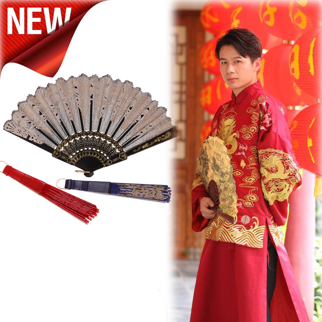 Chinese Hand Fan Traditional Hollow Fan Wooden Hand Made Exquisite Folding Wedding Gift Folding Fan Hand Fans Wedding Favors