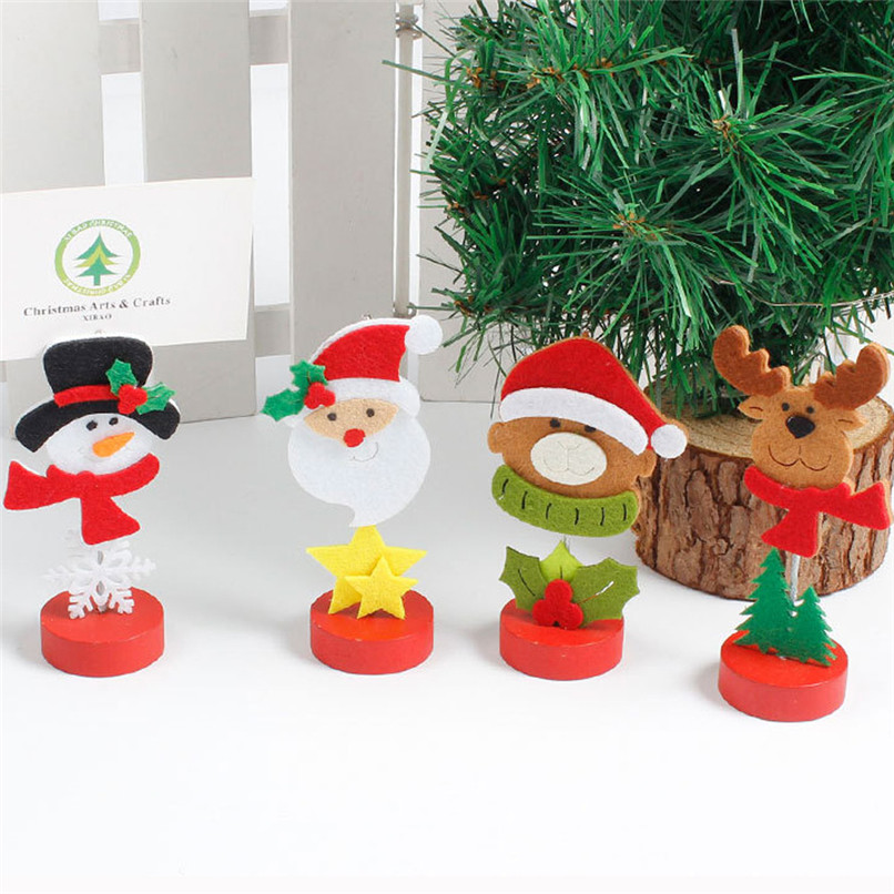 TC1226 1Set 4Pcs Christmas Card Clip Ornaments Decorative