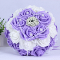 2016 In stock Purple/Pink/Red Wedding Flowers White Bridesmaid Bridal Bouquets Artificial Rose Wedding Bouquet de mariage