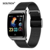 SCELTECH F9 Metal Smart Watch Men IP68 Waterproof Heart Rate Blood Pressure Sleep Monitor Health Smartwatch For Android iOS
