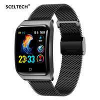 SCELTECH F9 métal montre intelligente hommes IP68 étanche fréquence cardiaque pression artérielle sommeil moniteur santé Smartwatch pour Android iOS