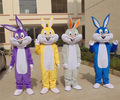 1pcs high quality Anime Rabbit Bugs Bunny frame EVA with Plush Mascot Costume toy in box via EMS.4 different kinds for select.