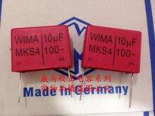купить 2019 hot sale 10pcs/20pcs German capacitor WIMA MKS4 100V 10UF 100V 106 P: 27.5mm Audio capacitor free shipping по цене 2263.31 рублей