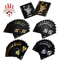 55pcs Black Tyrant Gold Plastic Playing Cards Mail Creative Wholesale Personalized Waterproof Magic Plastic Poker Cut