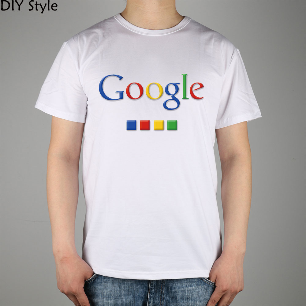 Four-color Google T-shirt cotton Lycra top 4586 Fashion Brand t shirt men new DIY Style high quality