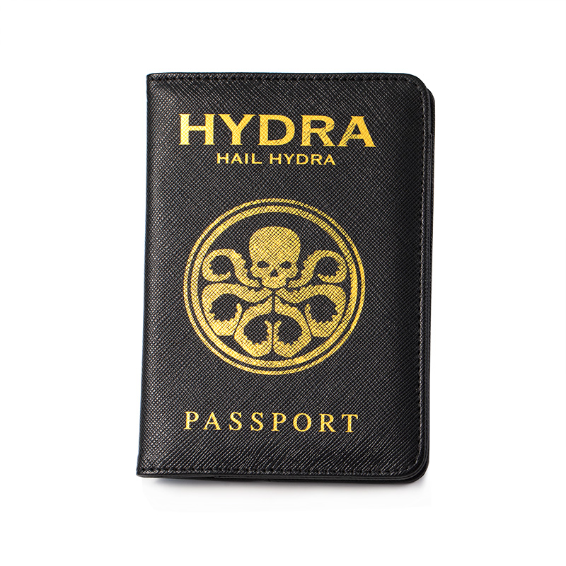 Captain America Hydra Passport Cover Marvel Passport Case Travel Passport Holder Drop Shipping & Wholesale