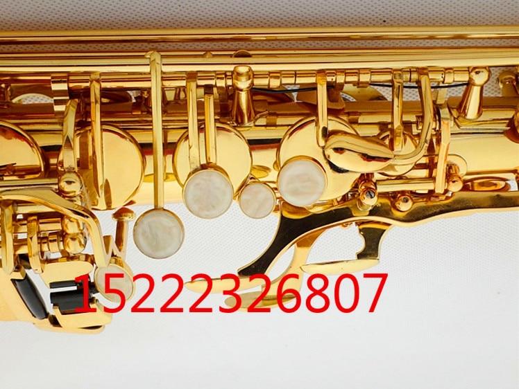 E flat alto saxophone sax musical instrument electrophoresis gold to send teaching reed shipping - 3