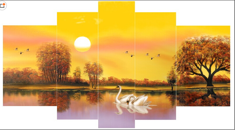 ᗜ LjഃModerna pared abstracta pintura al óleo del arte en la lona ...